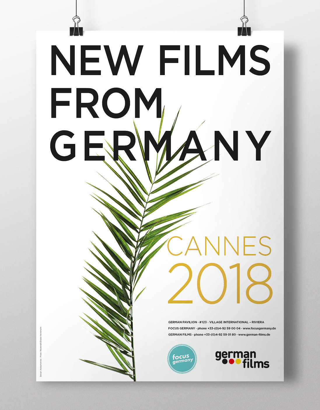 Poster German Films Cannes 2018 Design: Werner Schauer Pullach