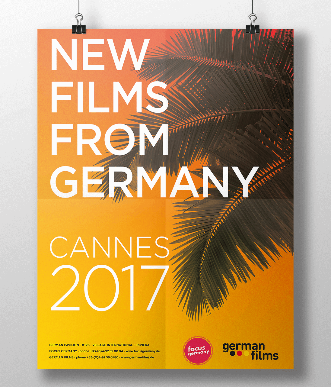 Poster German Films Cannes 2017 Design: Werner Schauer Pullach